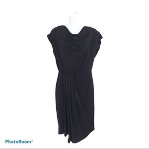 Vince Camuto tie back cowl neck draped dress 8